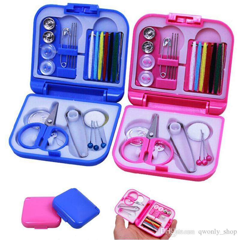 70PCS Sewing Kit Thread Needle Leather Storage Box Set Craft Tools For Travel