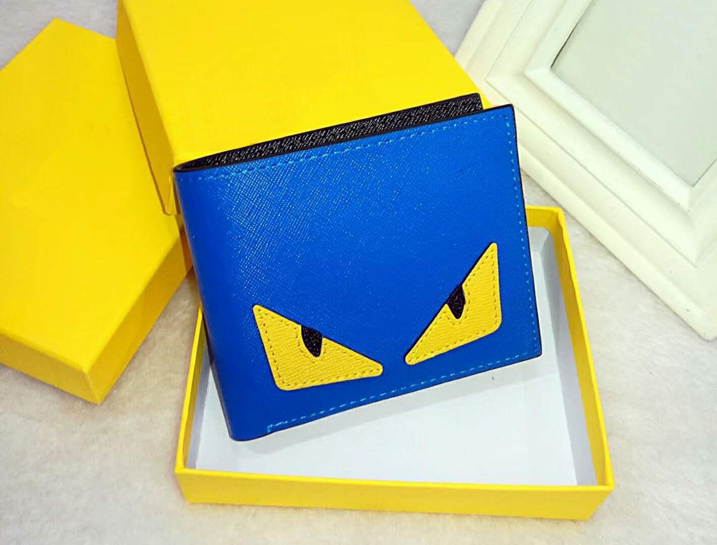 Portafoglio di alta qualità in pelle pu moda portafoglio da uomo portafoglio portafogli da uomo in stile europeo portamonete con scatola con scatola