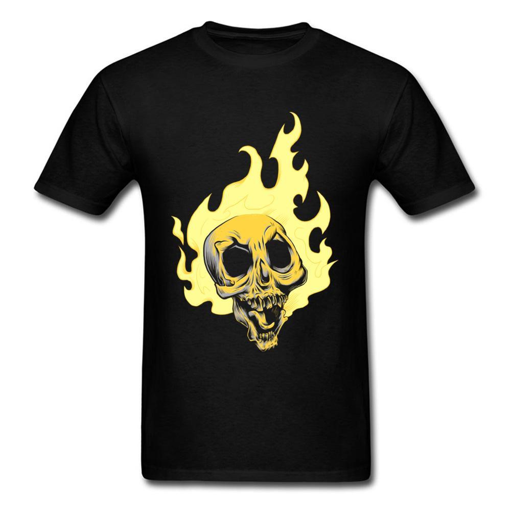 Nuevo listado Ghost Drifter Skull Custom Men Tee Shirt Camiseta negra Plus Size Design Manga corta Patrón de dibujos animados