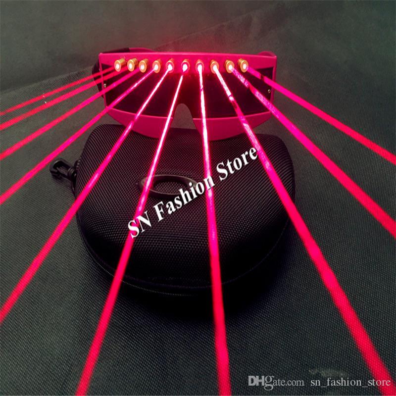 T3 Laser vermelho óculos de luz dj disco party bar usa boate passarela dança de salão trajes stage adereços terno de laser fornecimento de passarela clube dj
