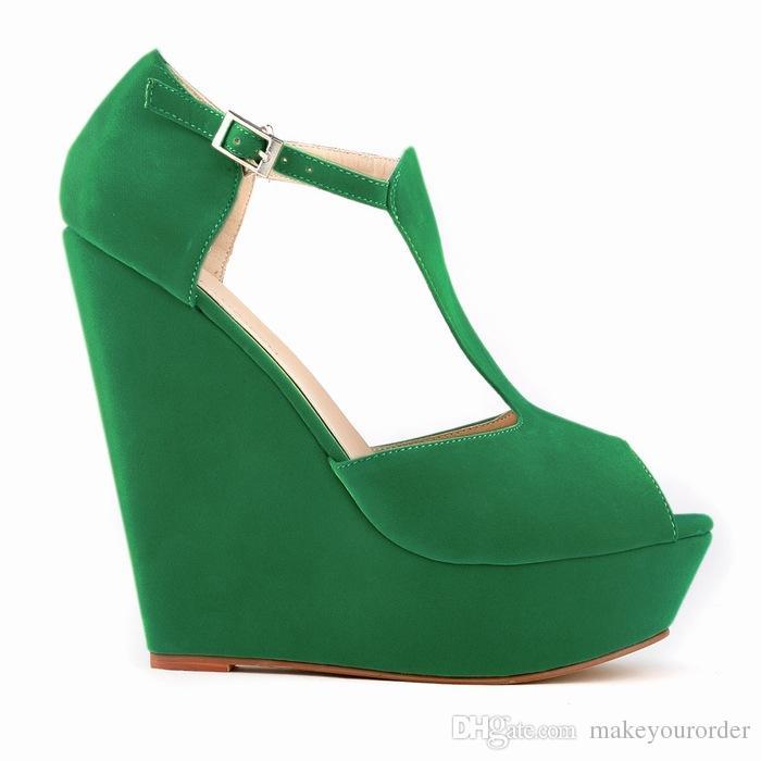 35-42 mavi bej turuncu mor peep toe büyük boy beyaz sarı yeşil siyah renk 14cm topuk kadınları 474 ayakkabılarını gül