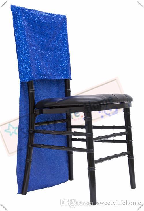 Livraison gratuite Nice housses de chaise chiavari Sequin / Glitz Chaise de banquet housses
