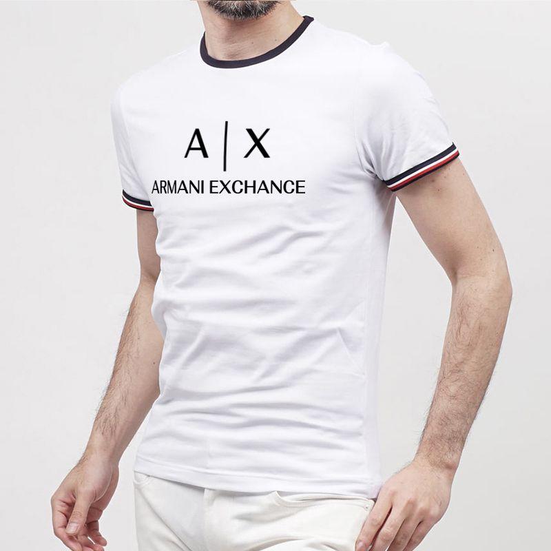 100% Baumwolle, die Monddruck lässige Herren Oansatz T-Shirts Art und Weise der Männer Tops Männer T-Shirt Kurzarm Männer T-Shirt Graben