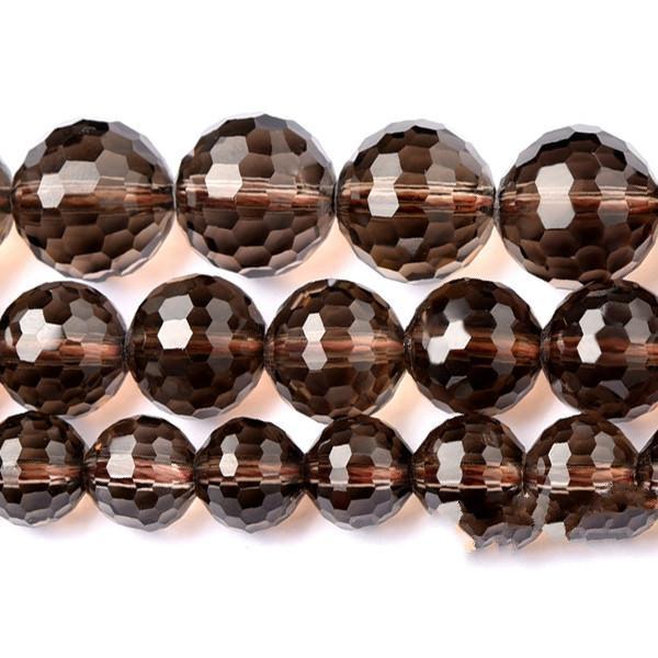 """8мм натуральный камень граненый дымчатый черный кварц свободные круглые бусины 16 """"6,8,10,12мм размер выбора"""