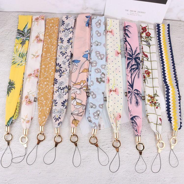 Téléphone Soie Lanière Lettre Étiquettes Sangle Cou Lanières pour les clés ID Carte Pass Gym Mobile Téléphone Porte-badge USB DIY Hang Rope Lariat