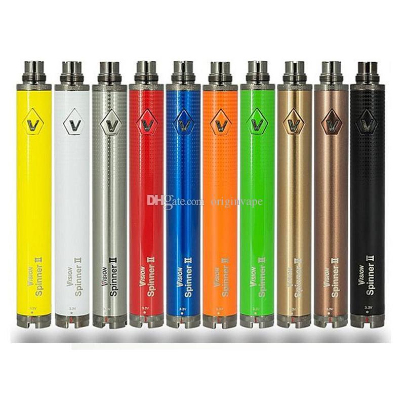 Vision Spinner II 2 Twist Battery 1600mah Capacity VV Mini 0.1V Voltage E Cigarette Vape Pen Ego EVOD 510 Thread