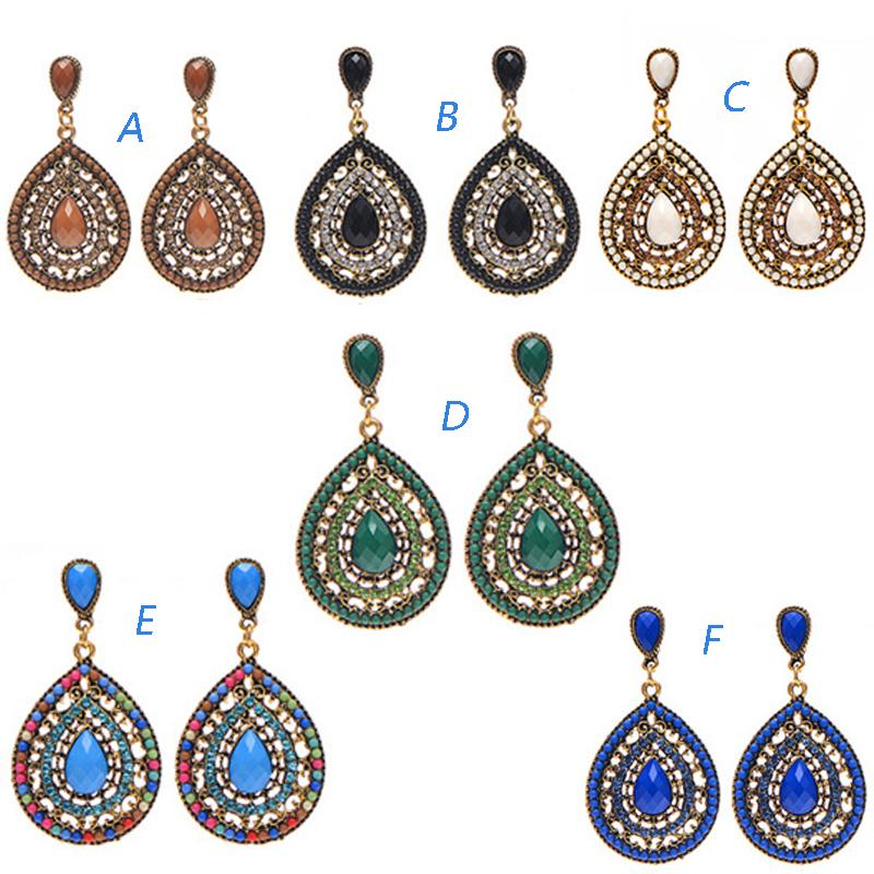 European and American hot trend nail accessories Bohemia full drill drops Beads Earrings Fashion Accessories earrings earrings