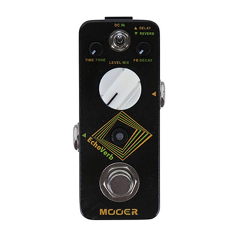 Эффект MOOER Micro Series Echoverb Digital Delay и Реверберация Эффект педали гитары и цифровая задержка в одну маленькую педаль