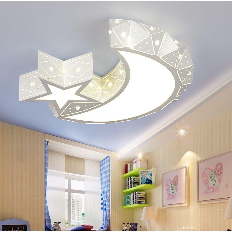 Großhandel Led Xingyue Deckenleuchte Fashion Simple Kindergarten Kinderzimmer Star Moon Light Led Kinderzimmer Deckenleuchte Von Lightslighting