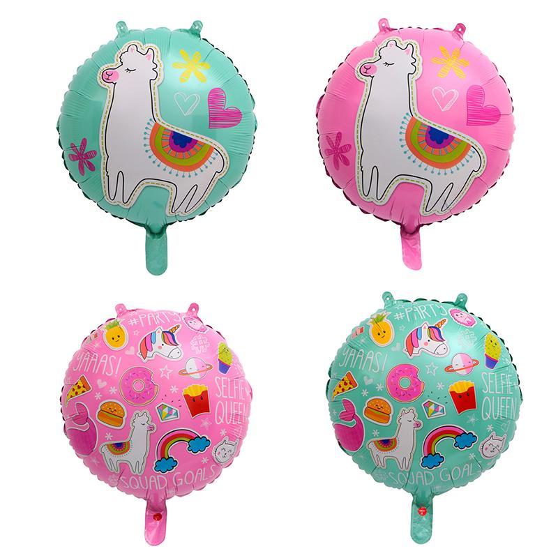 50PC 18-inch Alpaca balloon Animal sheep aluminum foil helium balloon birthday party decorations Supplies kids toy