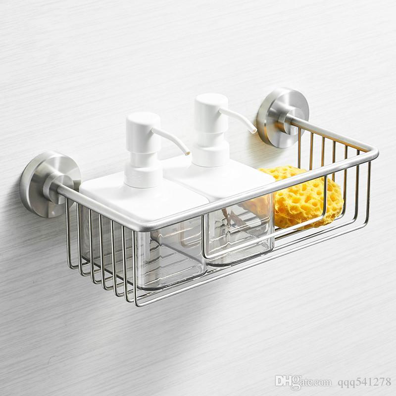 욕실 선반 단일 계층 304 스테인레스 스틸 샤워 바구니 목욕 비누 샴푸 스토리지 홀더 벽 욕실 선반
