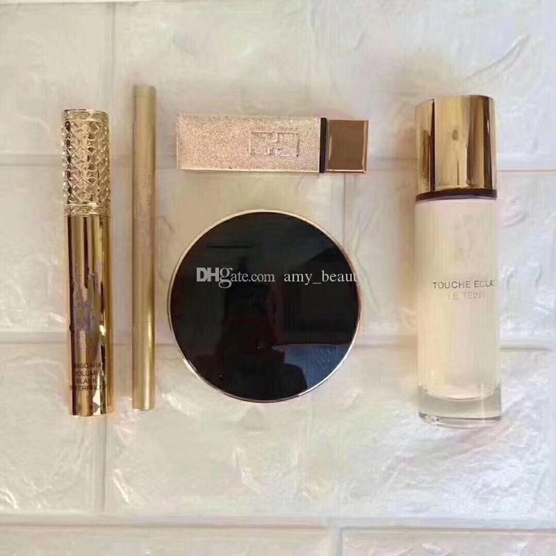 IN STOCK!!Makeup Brand Kollection Lipstick Eyeliner Pencil Mascara Face Powder 5in1 SET makeup set Gift box DHL Shipping