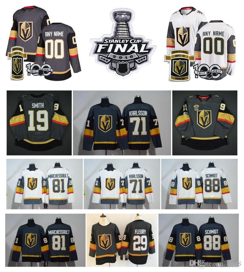 NHL لاس الذهبي فرسان جيرسي 29 مارك اندريه فلوري 71 وليام كارلسون 81 جوناثان مارشيسولت 75 ريان ريفز توش الرجال النساء الأطفال هوكي