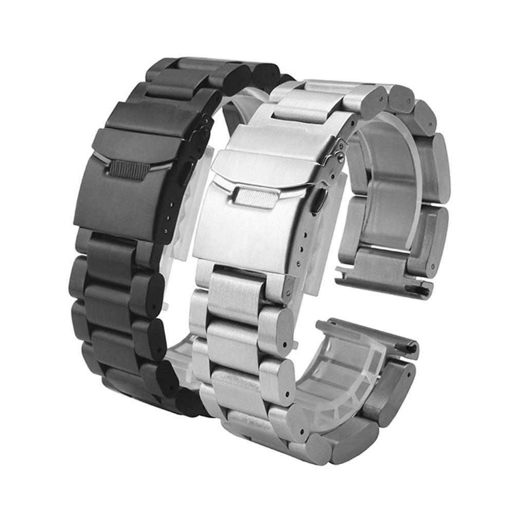 Correa de reloj de alta 26MM metal del acero inoxidable de venda de reloj de la correa para el Garmin 3 / hr 2018 la venta caliente Negro / astilla 2018 correas de reloj