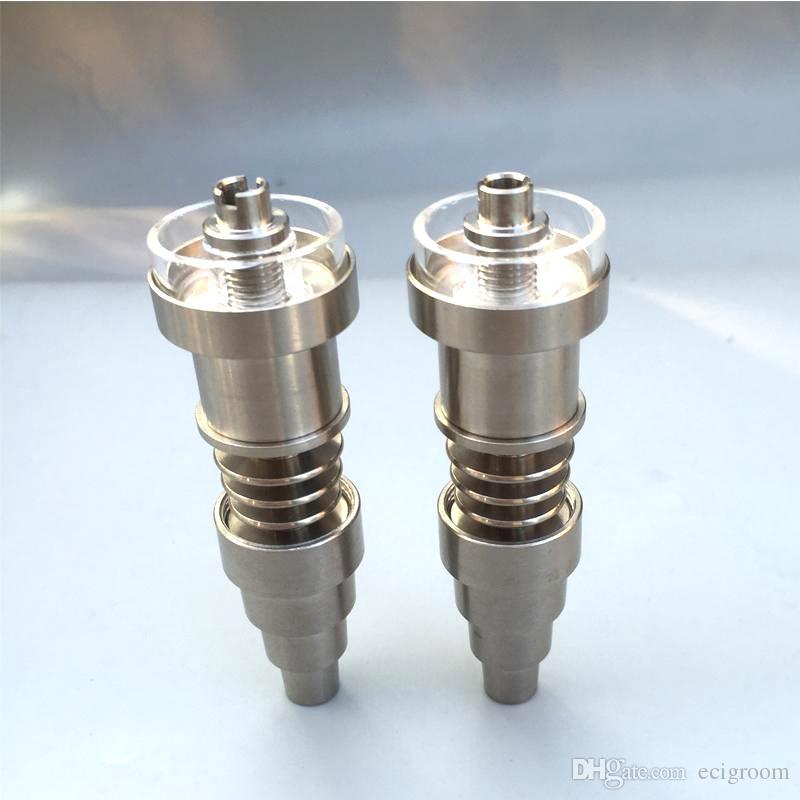 Prego de Titânio Domeless Prego GR2 Unhas de junção 10/14 / 18mm dab unhas para Tubos de vidro Tubo de água de bongo de Vidro Universal e Conveniente