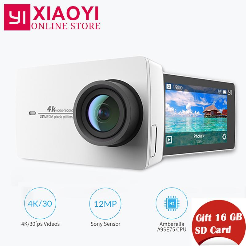 "Ursprüngliche YI 4K Action-Kamera Xiaoyi Mini-Sportkamera 2.19 ""LDC-Bildschirm Ambarella A9SE75 12MP 155 Wide Degree für Xiaomi"