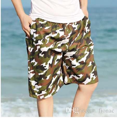 WSGJ BERMUDA Floral Amouflage Letnia męska Plaża Spodenki Hot Cargo Mężczyźni Boardshorts Mężczyzna Męskie Spodenki Casual Fitness