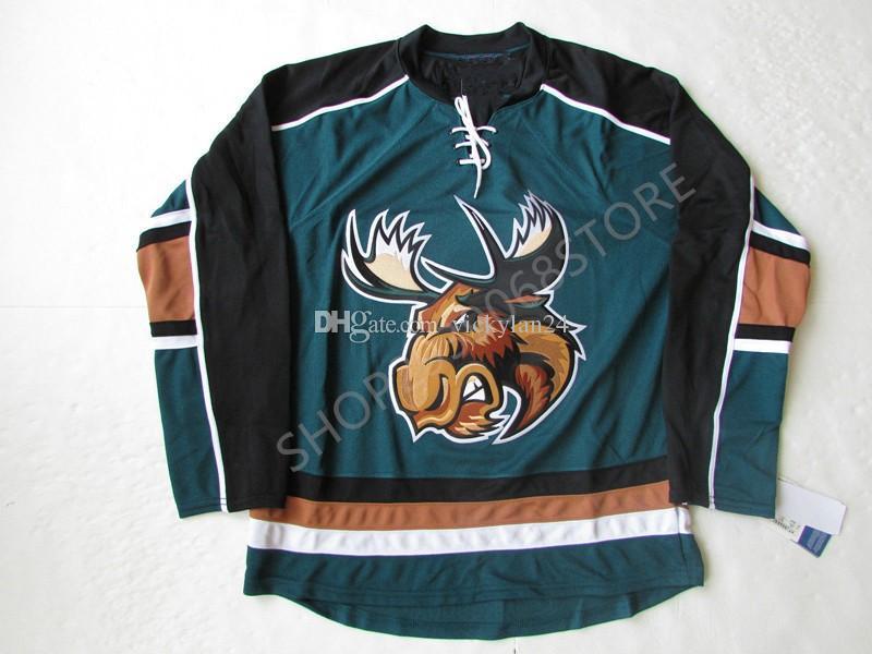 2021 Manitoba Moose Hockey Jersey Embroidery Stitched ...