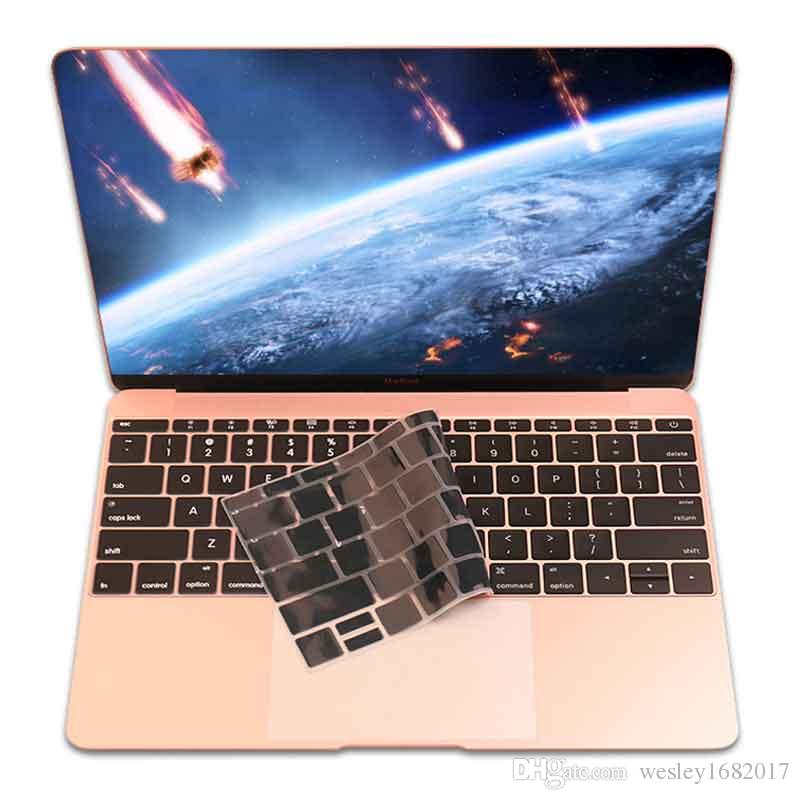 9 Colors Silicone Keyboard Cover Skin MacBook Pro Mac 13 15 Air 13 Soft Keyboard Stickers,Pink