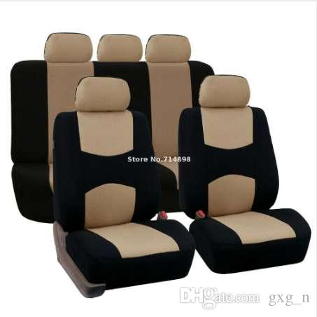 Carnong Car Seat Cover Universal jersey fabric full set light weight car interior accessory rear seat NOT DETACH auto seat cover
