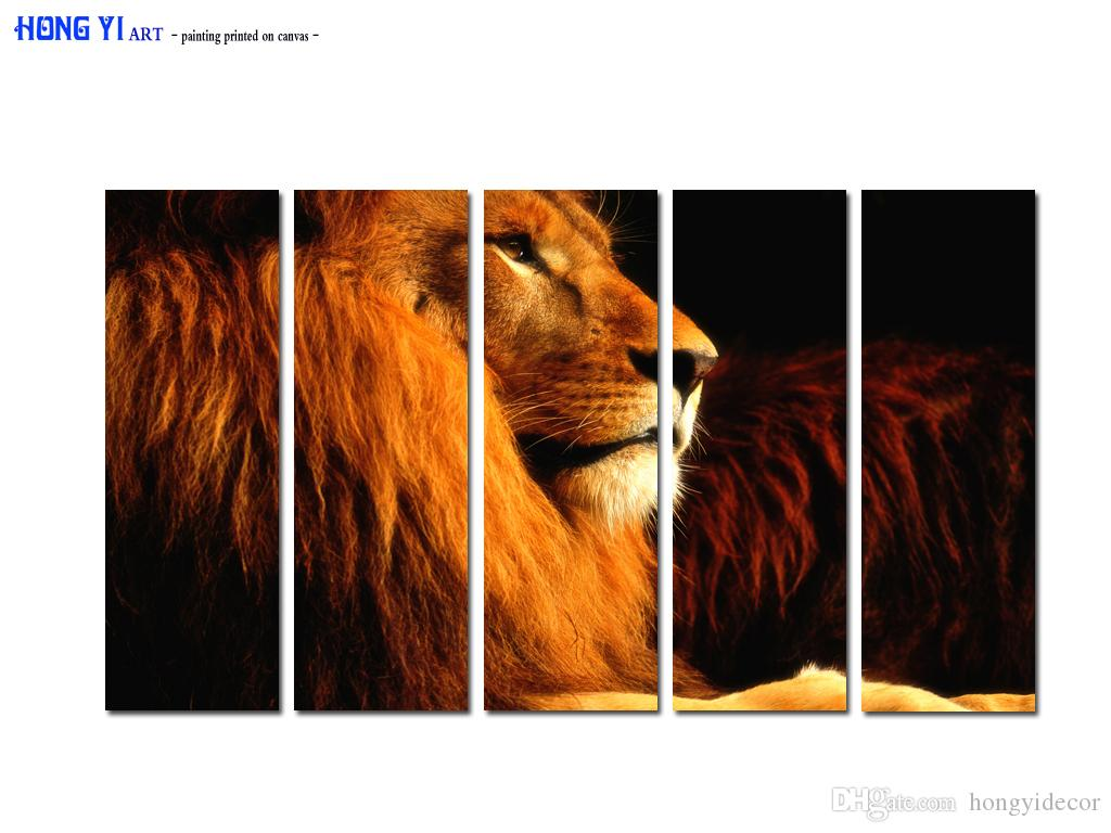 Large Contemporary Hot Sale Art Wall Animal Lion Head oil painting Picture Printed on canvas for Living Room Bedroom Home Decor Aset166