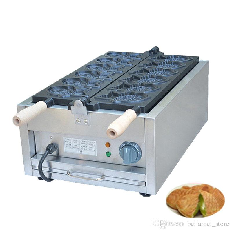 Approvisionnement d'usine 110V 220V gaufrier taiyaki commercial électrique / gaufre en forme de poisson faisant la machine / taiyaki machine