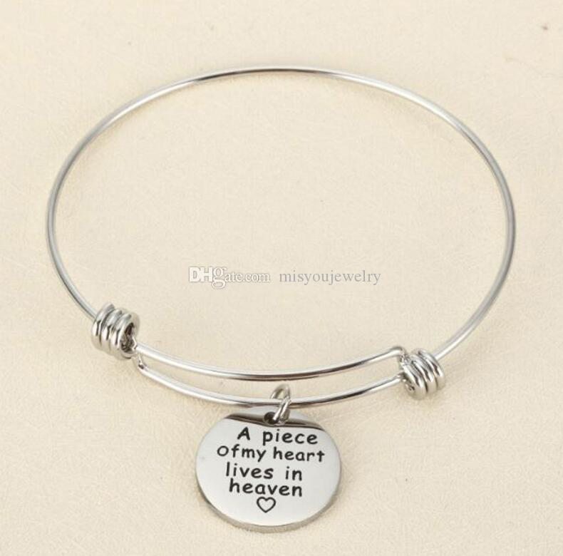 Fashion jewelry accessories fine Expandable Bracelet Adjustable Wire Bangle Jewelry Inspirational Gifts for Women Charm Pendant