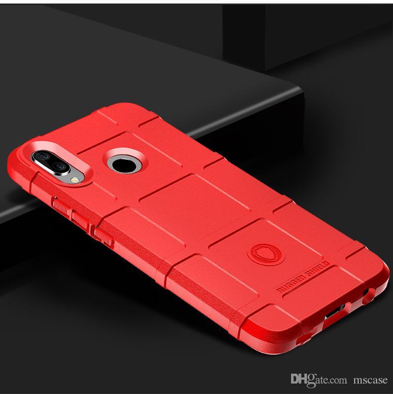 Für Huawei P20 Mate20 Lite Pro Plus Nova3 Nova3i Nova3E P Smart + Shockproof Rugged Shield TPU Rüstung Rüstung Zurück Cover Phone Case Pouch