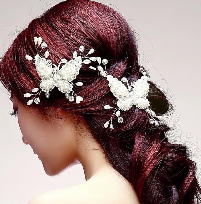 Nuovo copricapo da sposa, tornante a farfalla fatto a mano da sposa coreano