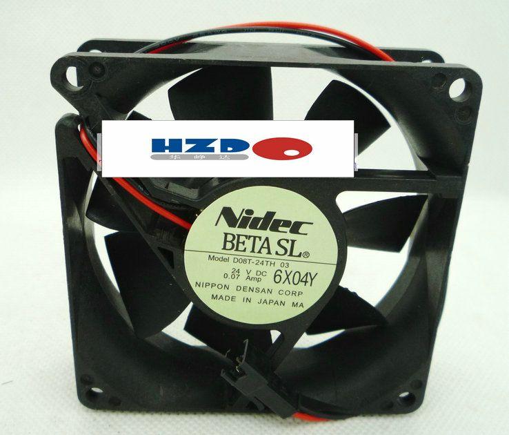 オリジナルNIDECインバータ冷却ファン8CM 8025 0.07A D08T-24 03冷却ファンA8025-25RB-3AP-U1 DF8025M12S