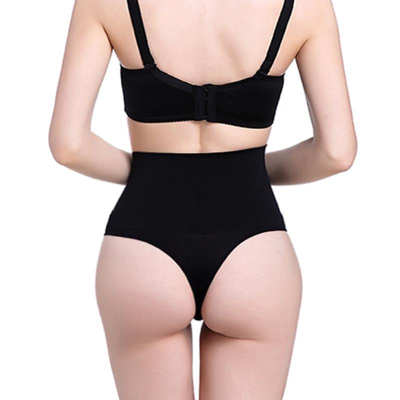 Femmes taille haute formateur ventre minceur contrôle taille cincher Body Shaper Thong G-string Butt Lifter sans soudure culottes
