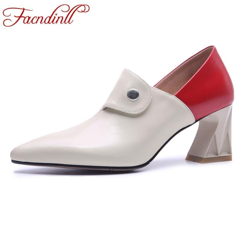 도매 새로운 정품 가죽 여성 펌프 신발 높은 qulaity 지적 발가락 높은 발 뒤꿈치 검은 살구 여자 드레스 사무실 숙녀 신발