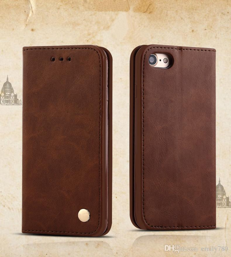 New For iPhone 7 6 6S Plus 5S Vintage Retro Flip Stand Wallet Leather Case With Photo Frame Phone Cover For iphone7 5 7plus Free DHL