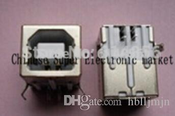 10pcs USB-B Female USB Connector Square Head USB party mouth_USB a 90 degree type D DIP straight runs