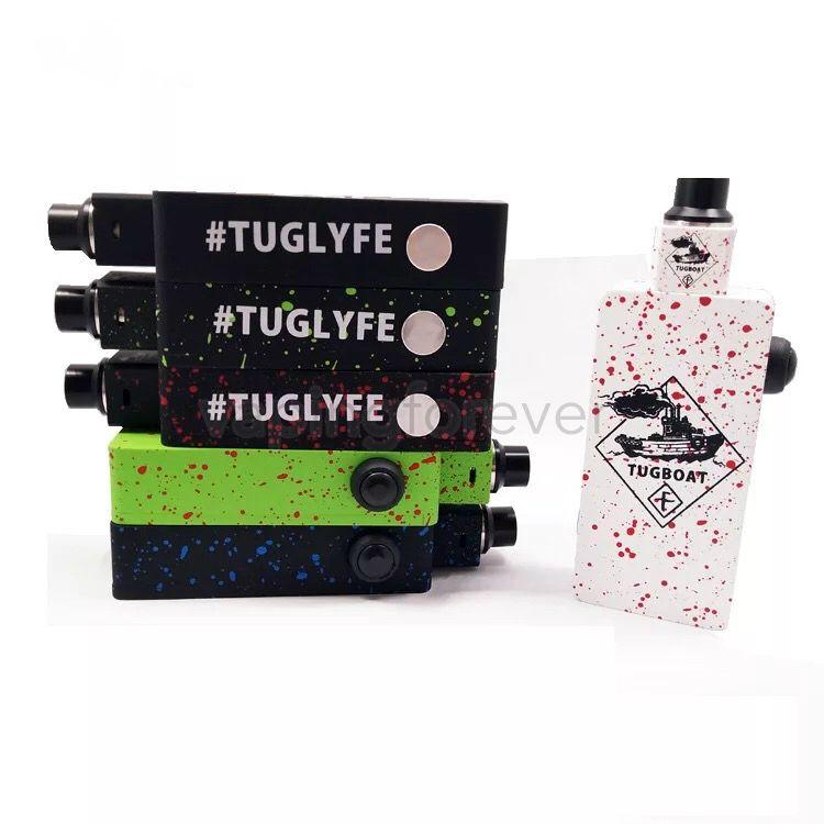 Tugboat Box Mod Starter Kit Colorful Tuglyfe Unregulated Box Vape Mod Cubed RDA Mechanical Velocity RDA Tuglyfe Portable Box Mod Vaporizer