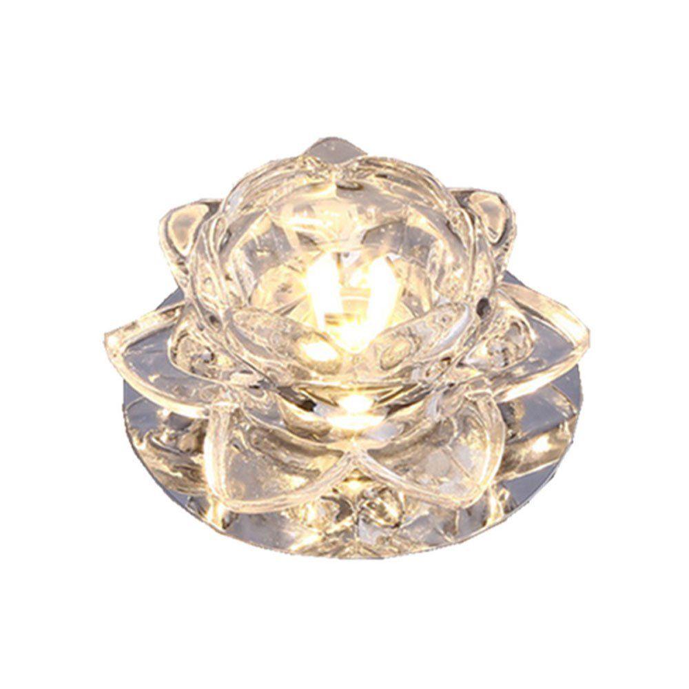 현대 해바라기 크리스탈 3W 복도 downlights 거실 로비 천장 조명 유리 로터스 꽃 복도 캐비닛 천장 램프