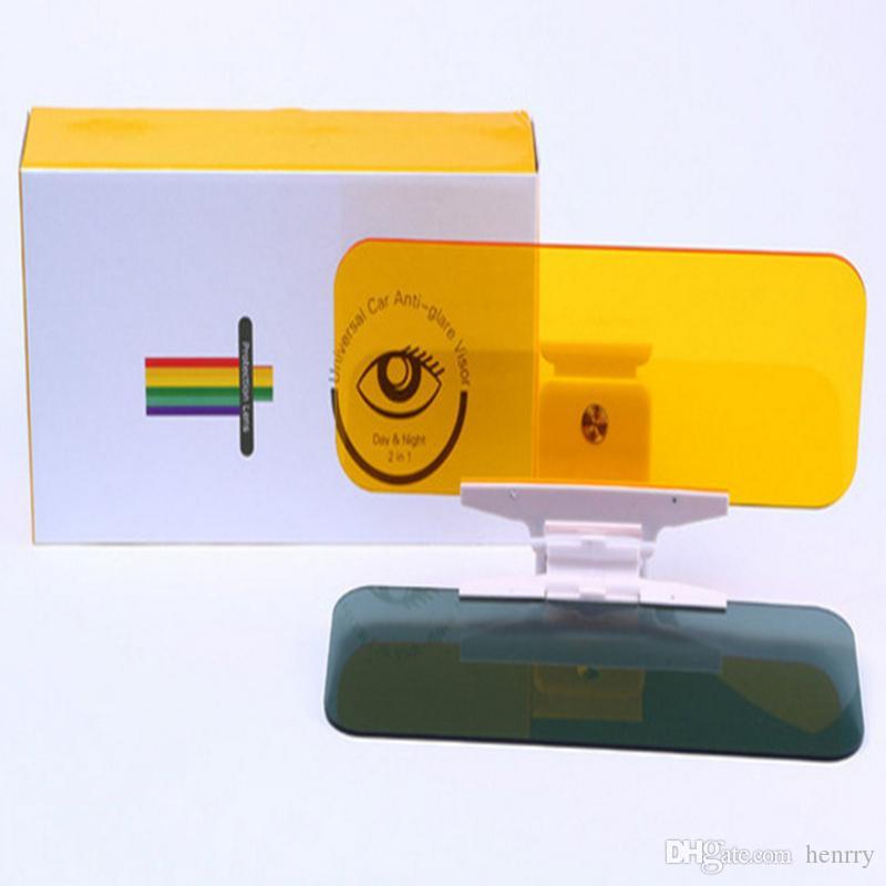 Universal Car Anti-Glare Visor Day Night 2 w 1 Night Vision Goggles Anti Glare Lusterko z przyciskiem Aktualizacja wersji sterowniki Ochrona oczu