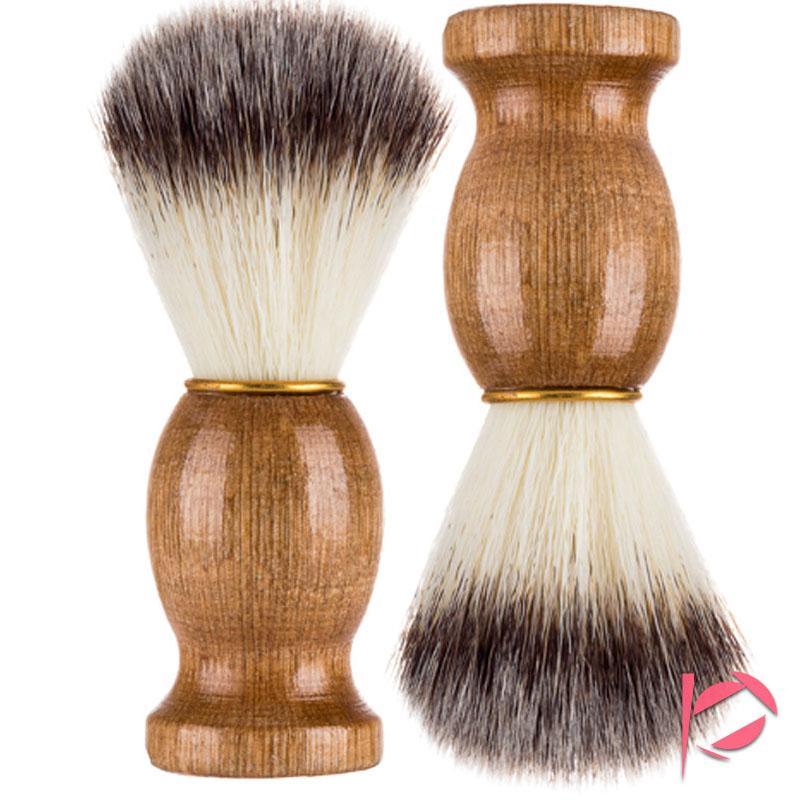 11CM Badger Hair Men's Shaving Brush Barber Salon Men Facial Beard Cleaning Appliance Shave Tool Razor Brush Nylon Badger hair