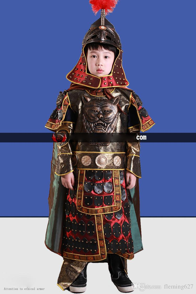 53674ebd6 ... General Armour Stage Show Performance TV Play Kids Outfit Ancient  Chinese general armor Children Cosplay warrior ...