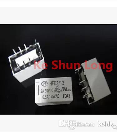 Frete grátis lote (5 peças / lote) original Novo HONGFA HF HFD3 / 12 HFD3-12 8 PINS 2A 12 V Relé de Sinal