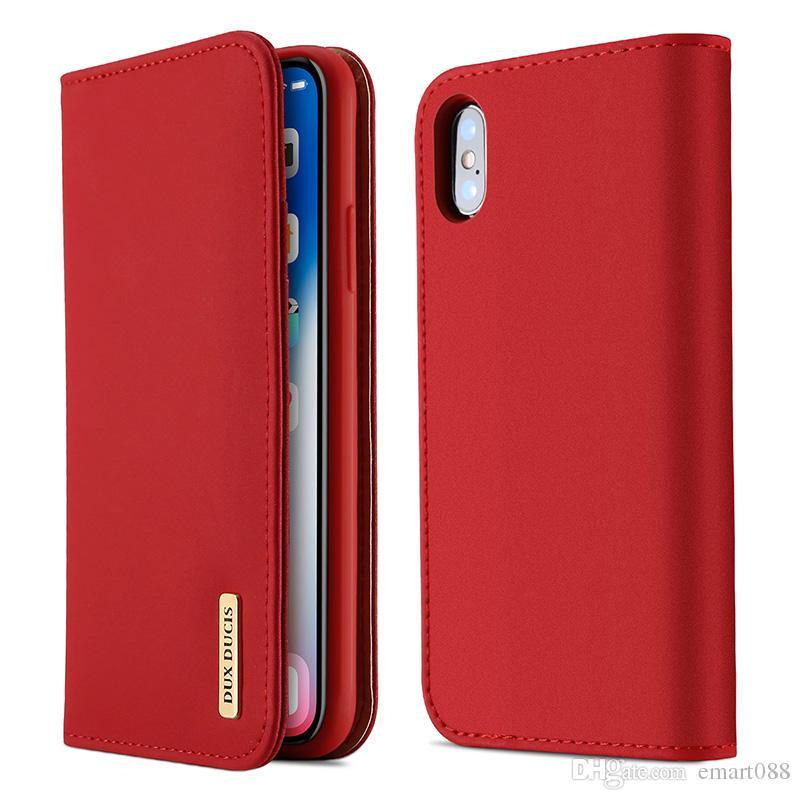 DUX DUCIS Wish For iPhone x Sleep Case Leather Flip Phone Hostler i-Phonex Cases Card Holder xPhone xcases i7 i8 i6plus ipx