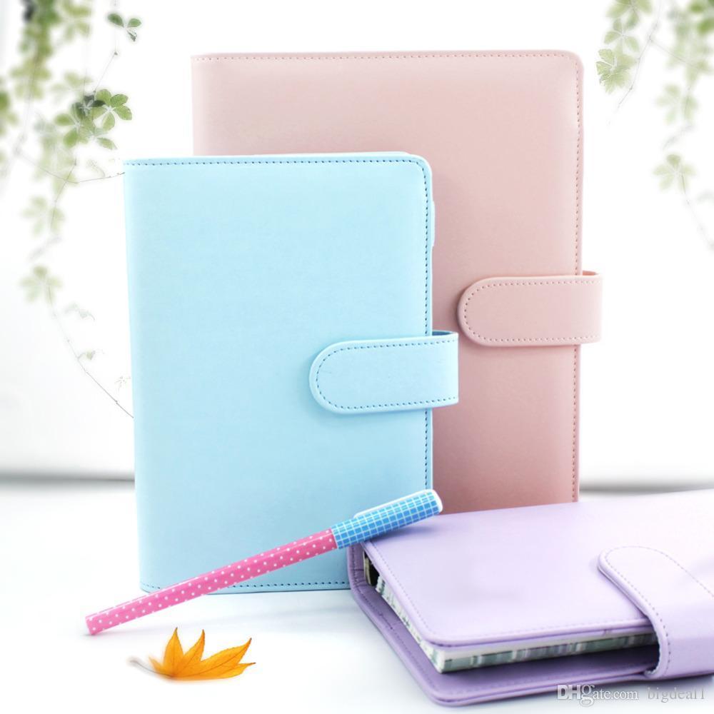 A5 A6 PU Cute Notebook Spiral Time Planner Book Diary Filofax Planner Agenda Organizer