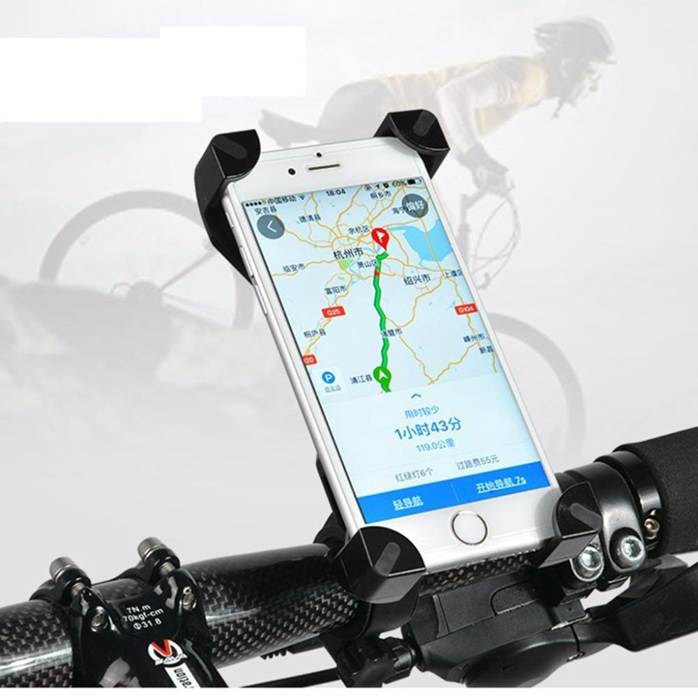 Supporto per bicicletta GPS regolabile Supporto per bicicletta Supporto per borsa per HTC Cellphone rack computer tachimetro nero