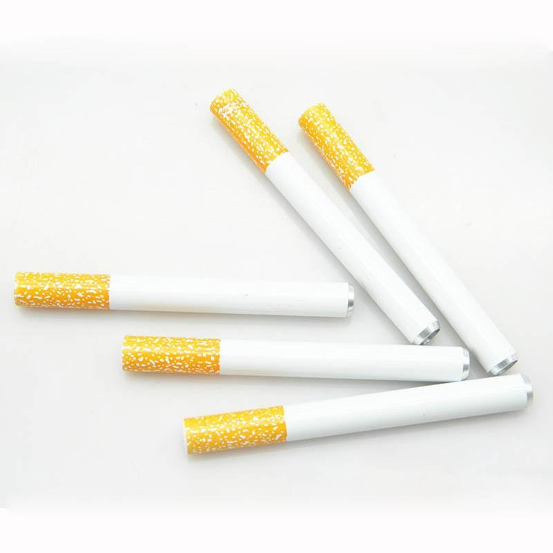 Poche à fumer Pipe à fumer Tuyaux à main pour tabac forme de la cigarette Hornet Grinder Pipes en métal livraison gratuite