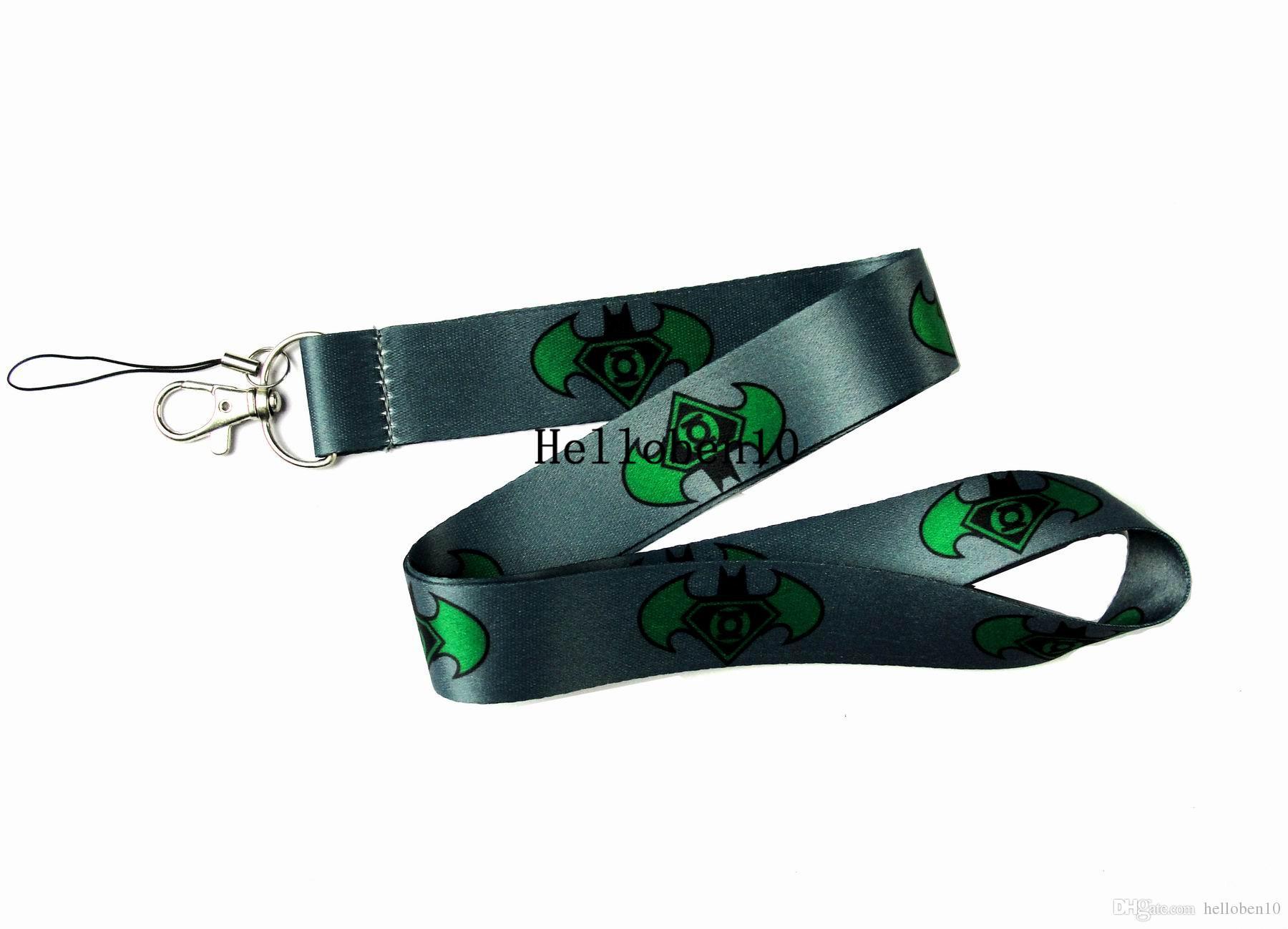 10pcs superman key chain Lanyard ID Badge Holder Key Neck Strap