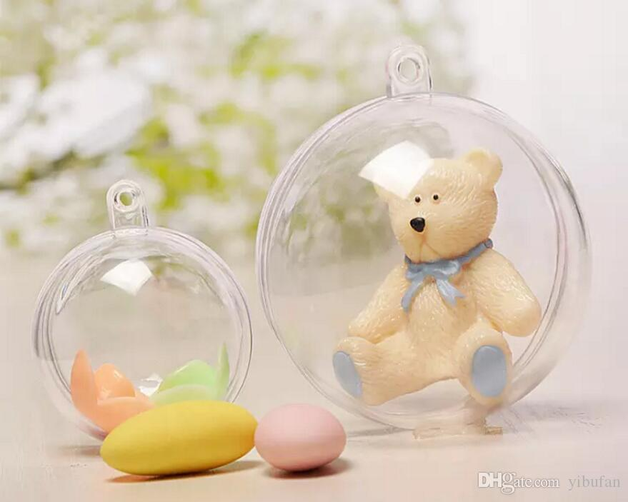 Clear Hanging Ball Round Baubles Christmas Tree Decoration Plastic Craft Christmas Gift Boxes Decor Ornament ball