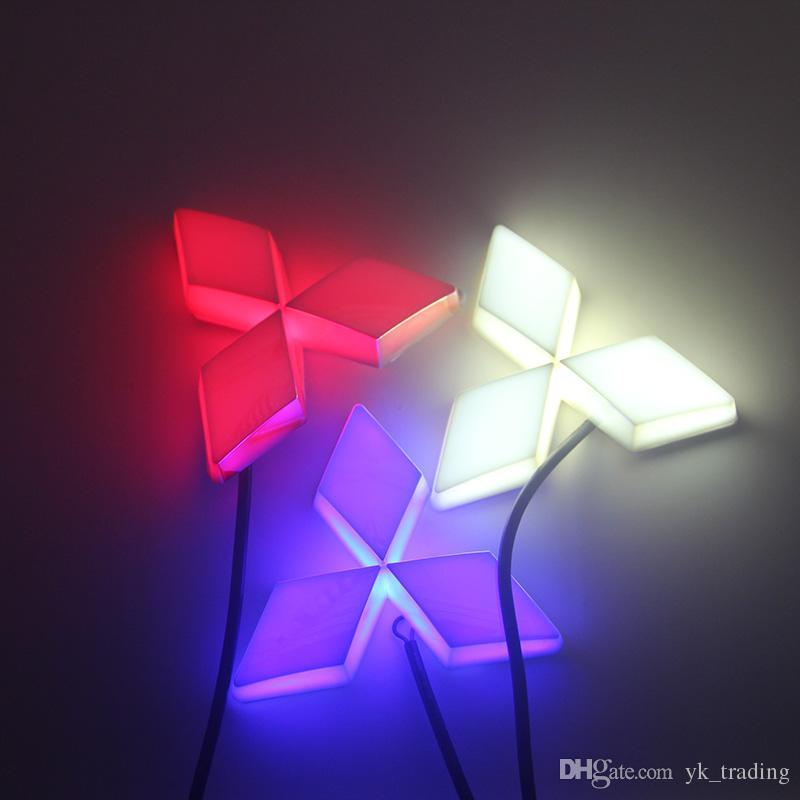 13.3 cm * 10.1 cm Car Emblem light per mitsubish galant lancer zinger asx cuv lioncel Badge Sticker LED luce 4D logo Emblemi luce