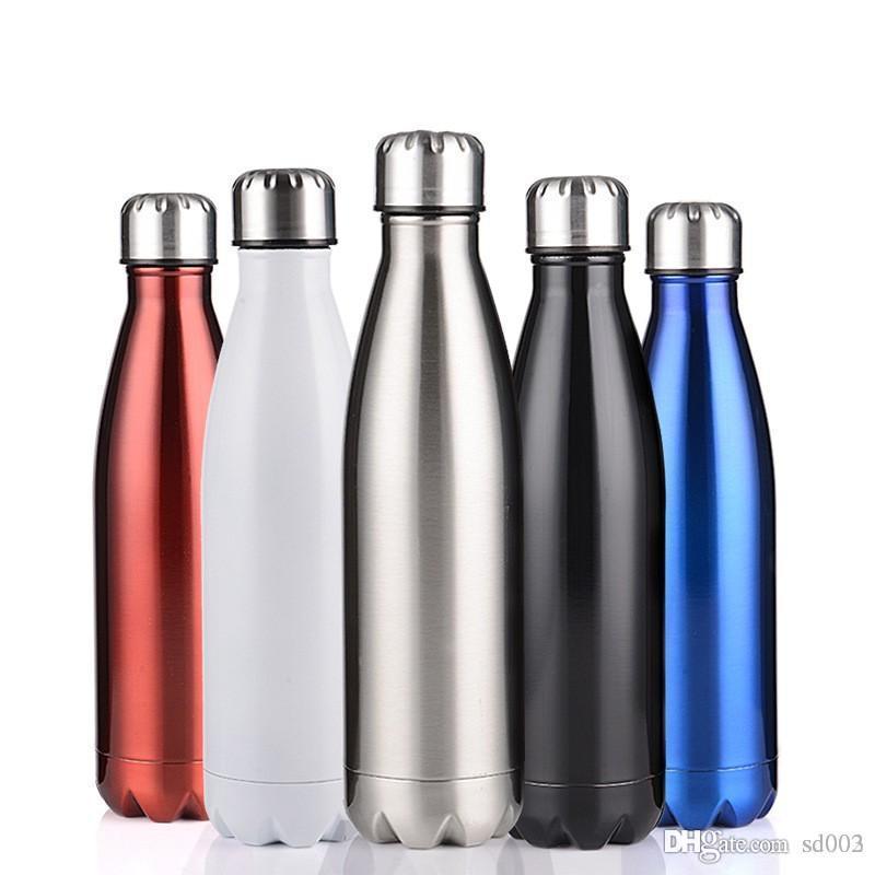 زجاجة الفولاذ المقاوم للصدأ كولا مياه للرجال والنساء الرياضة في الهواء الطلق فراغ المحمولة كأس تصميم المحمولة شرب أداة 19yb ZZ