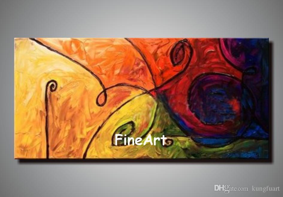 El boya sanat tuval yağlıboya soyut tuval el yapımı çağdaş sanatçılar boyama art deco resim sergisi satış
