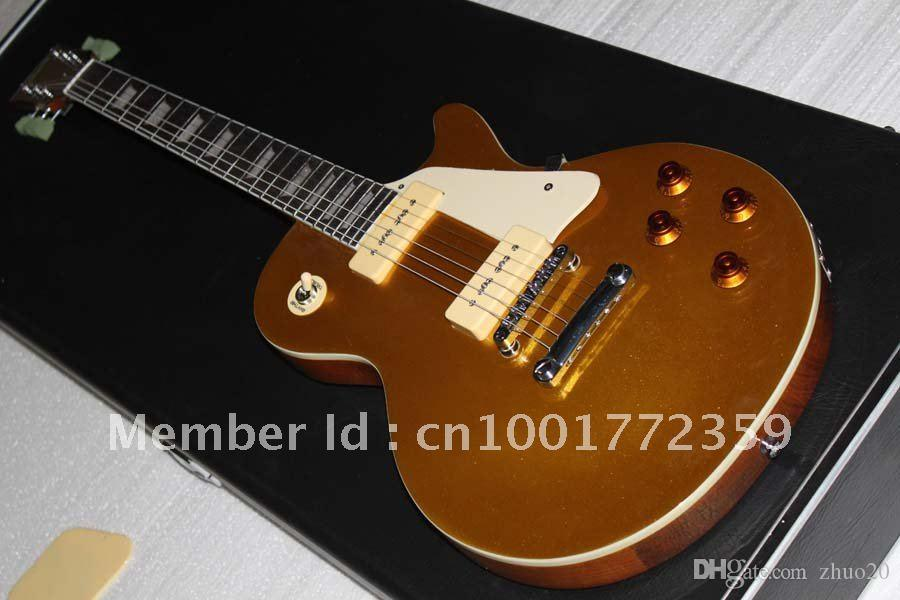 Toptan Özel mağazalar goldtop Büyük ses elektro gitar stokta Ücretsiz kargo